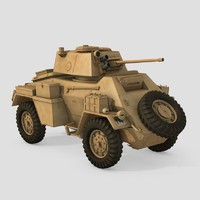 british humber armoured car 3d obj