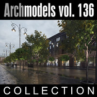3d archmodels vol 136 trees