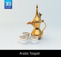 3d arabic teapot model