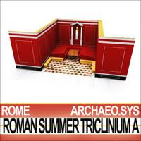 3d model ancient roman summer triclinium