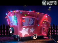 3dsmax caravan car