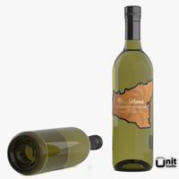 bottle wine feudo sartanna 3d model