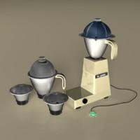 3d model butterfly mixer grander