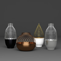 metalic vase 3d max