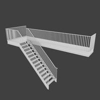 exterior stair 3d obj