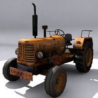 tractor engine 3d 3ds