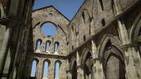 Roofless cathedral San Galgano