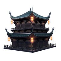 3d max traditional chinese architecture