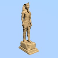pharaoh sculpture 3d model