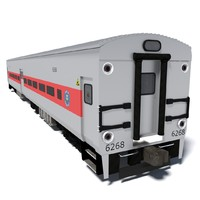 3d metro-north train wagon
