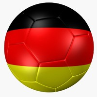 soccer ball germany flag 3d 3ds