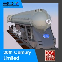 3d realistic 20th century limited