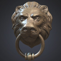 3d lion head door knocker