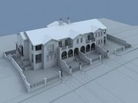 house villa 3d model