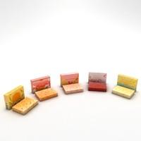 natural hand soap 3d model