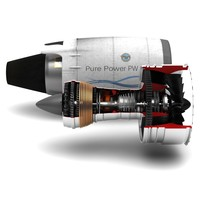 pratt withney 1000g engine 3d max
