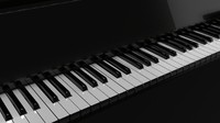 3d model realistic piano ready animate