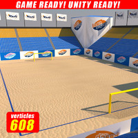 3d model beach soccer stadium