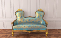 3d sofa rococo furniture model