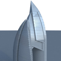 futuristic skyscraper fbx