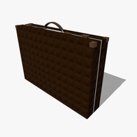 free briefcase brief case 3d model