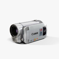 3d low-poly canon fs400 silver
