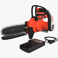 3d cordless chain saw black model
