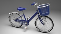 bicycle rigged ready 3d model
