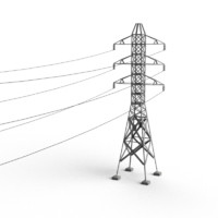 electricity pylon 3d model