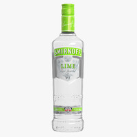 3ds smirnoff lime vodka bottle