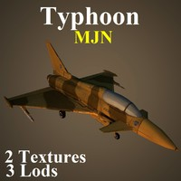 eurofighter typhoon mjn 3d max