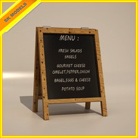 Low Poly Menu Board