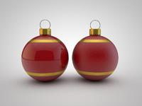 christmas ball c4d