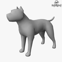 Low Poly Pit Bull