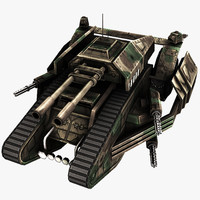 futuristic tank 3d 3ds
