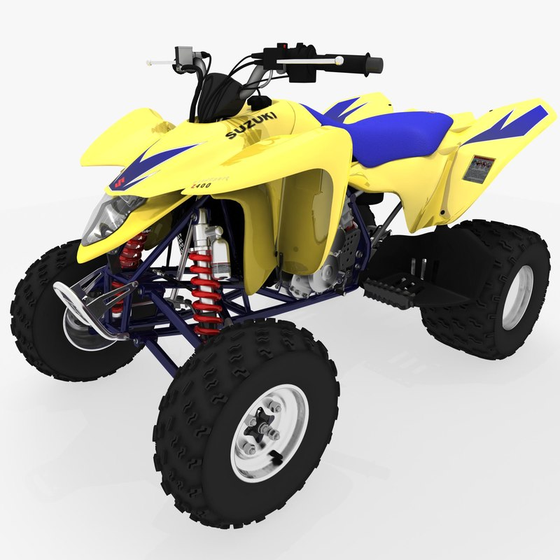 suzuki ltz 400 quad bike 3d ma. Black Bedroom Furniture Sets. Home Design Ideas
