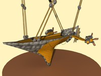 3d airship engines model
