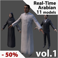 3d arabic civilians real-time