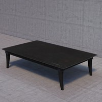 restoration hardware klismos coffee table 3d max