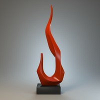 3d model sculpture flame