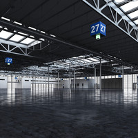 exhibition hall 3d max