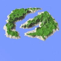 landscape island 3d max