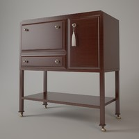 3d dansu bar cabinet model