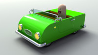 3d model car rigged