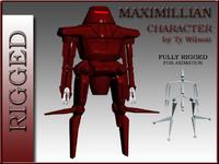 3d model robot maximilian