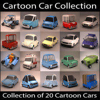 20 Cartoon Car Collection