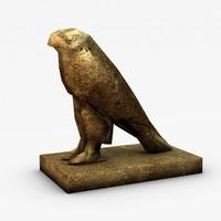 3d model horus statue games