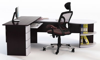 Office Desk with Chair & Props 2