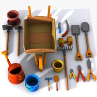Cartoon Garden Tool Collection