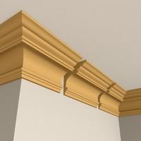 interior cornice molding 3d model